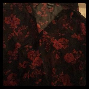 Vintage Sheer Women's Button Up